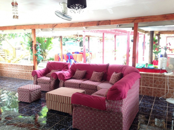 The George Hotel Kiribati TV Lounge