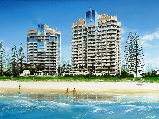 Oceana on Broadbeach Beachfront view of Oceana on Broadbeach